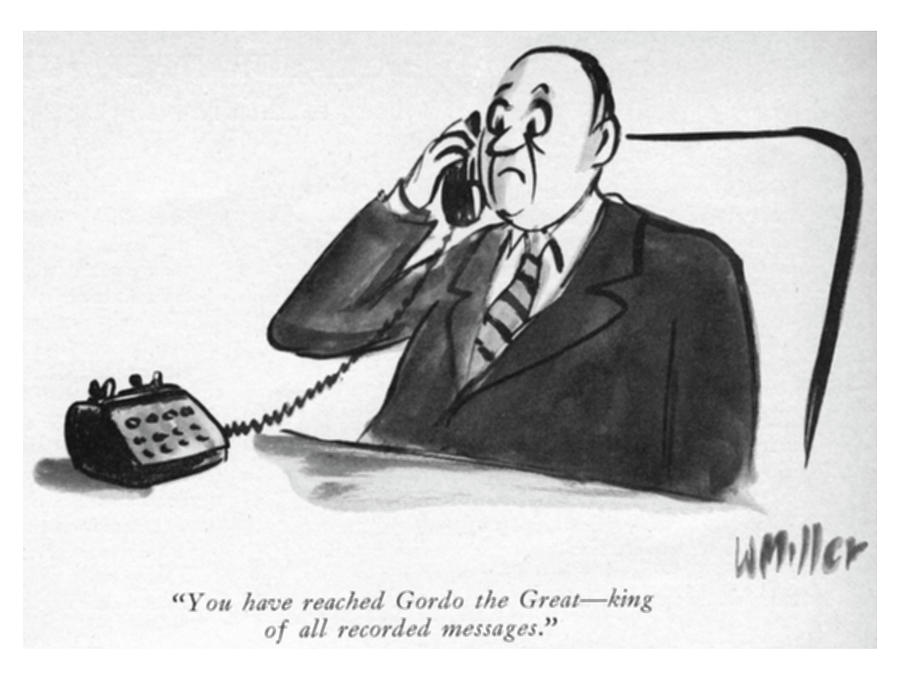 King Of All Recorded Messages Drawing by Warren Miller