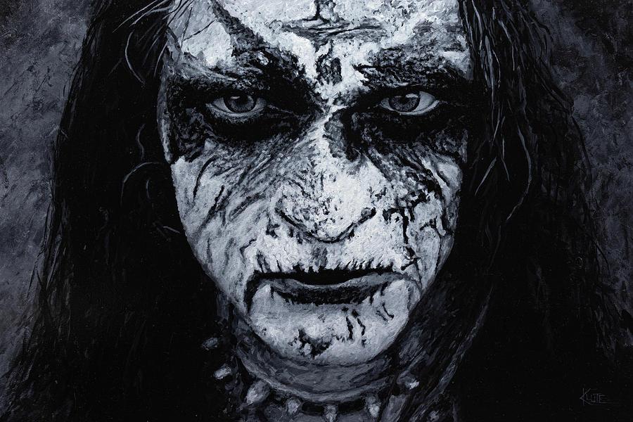 Black Metal Painting - King ov Hell by Christian Klute