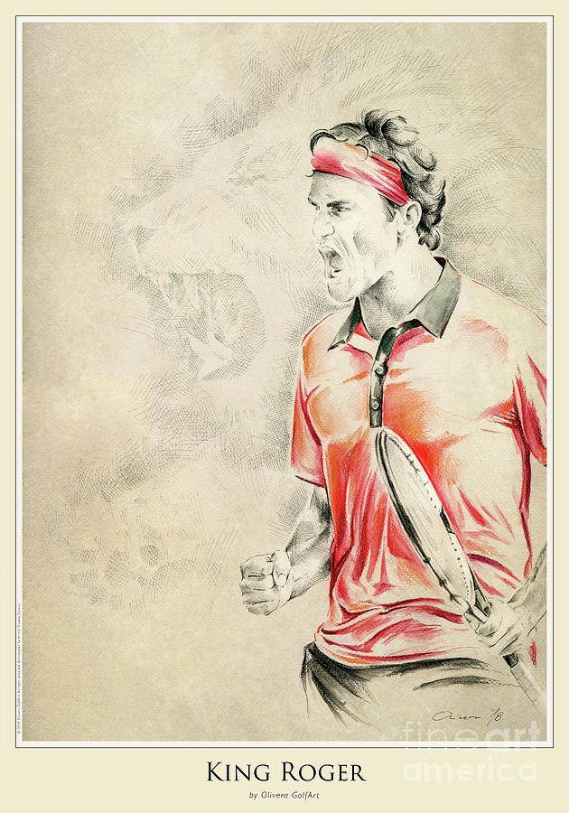 Golfer Painting - King Roger - Poster by Olivera Cejovic