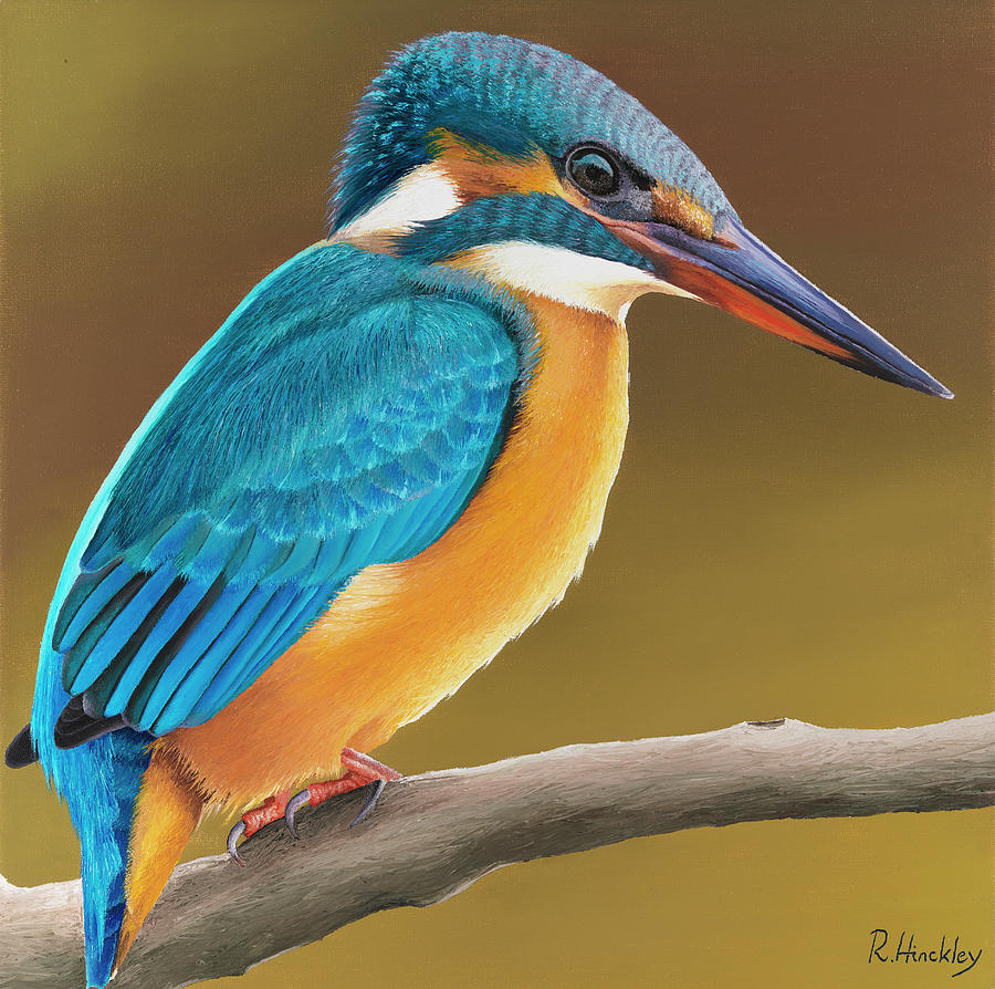 Kingfisher Painting - Kingfisher by Russell Hinckley