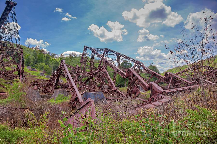 Kinzua Bridge Skywalk Wreckage Photograph