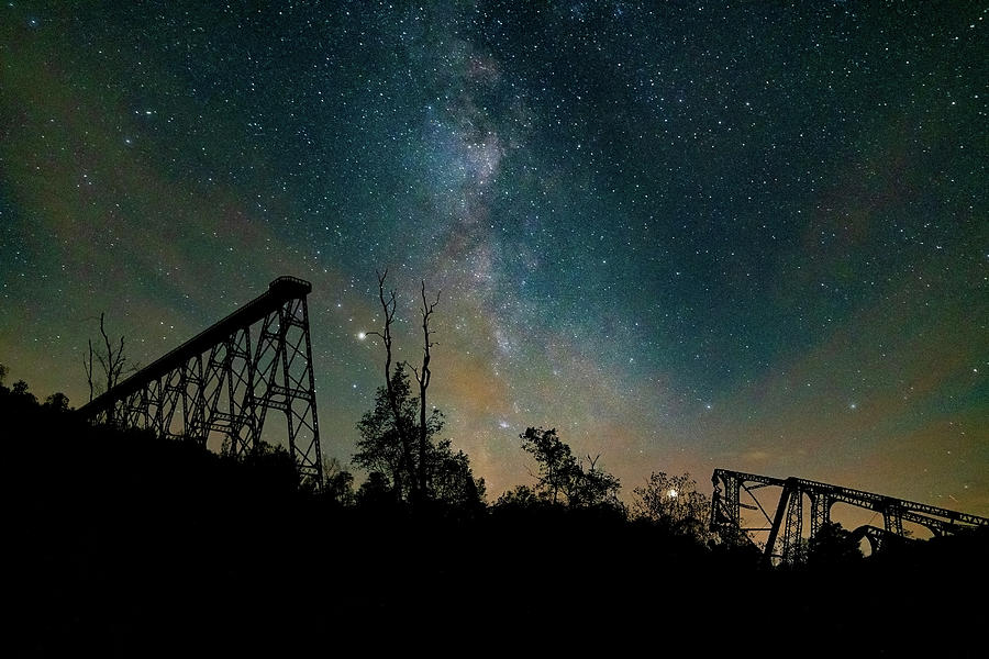 Kinzua Skywalk Under The Milkyway by Jim Vallee