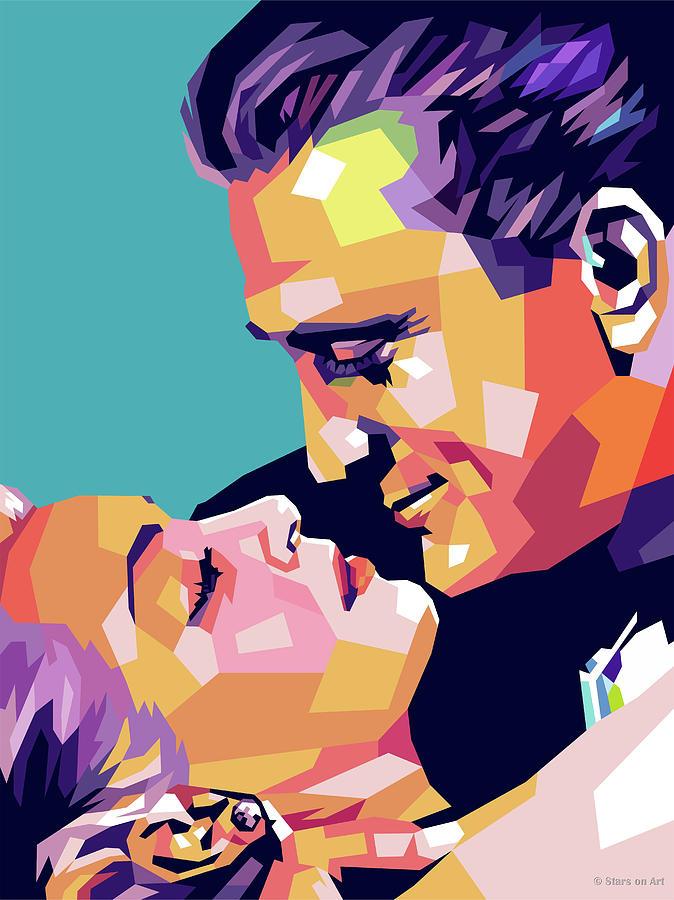 Kirk Douglas And Lana Turner Digital Art