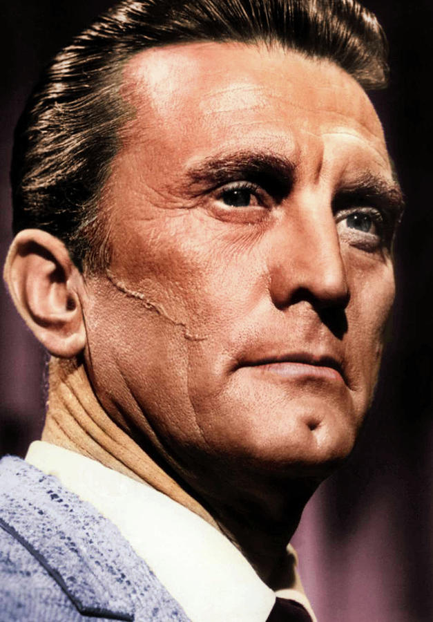 Kirk Douglas Colorized Photograph