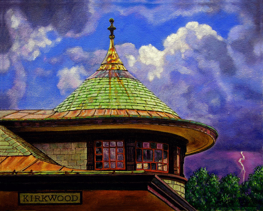 Kirkwood Painting - Kirkwood Train Station by John Lautermilch