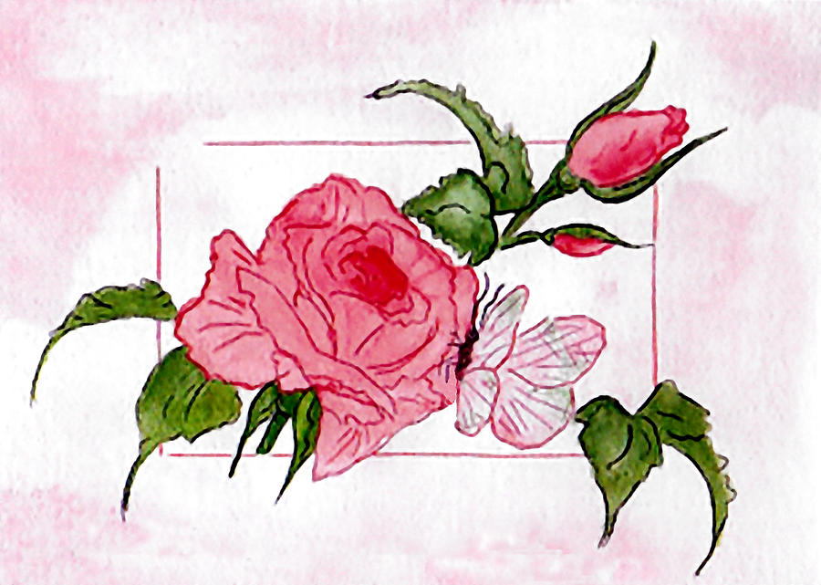 Kiss The Rose Painting