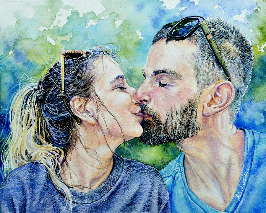 Kisses Sweeter Than Wine Painting