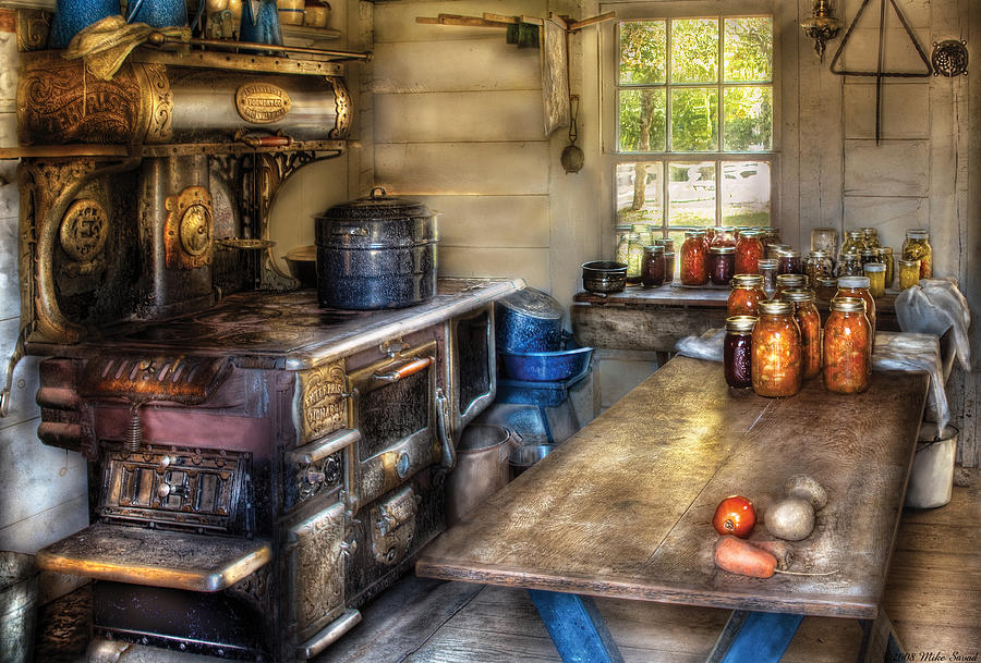 Kitchen Photograph - Kitchen - Home Country Kitchen  by Mike Savad