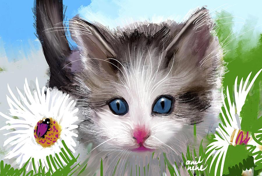 Kitten 2 Painting