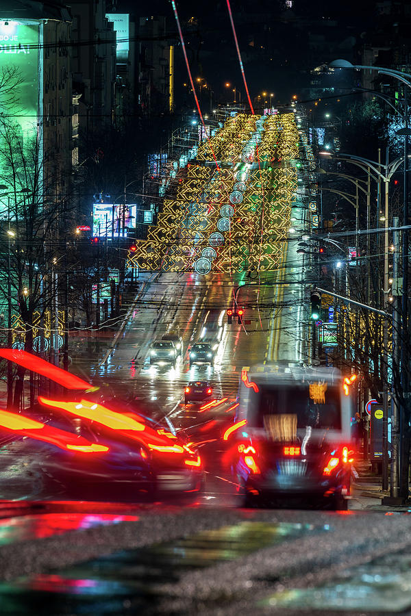 Magnificent Photograph - Knez Milosa Street In Belgrade, Holiday Edition  by Dejan Kostic
