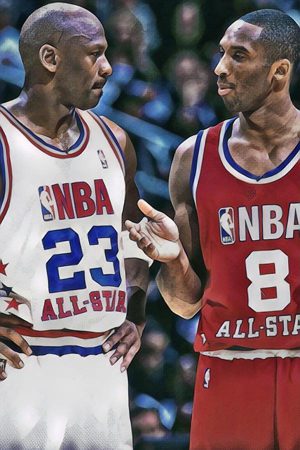 Kobe Bryant Photograph - Kobe Bryant Michael Jordan by Joe Hamilton