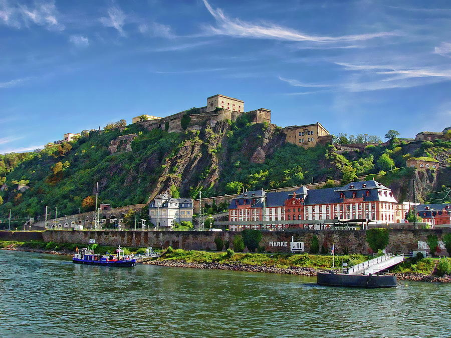 Koblenz And Ehrenbreitstein Fortress Photograph