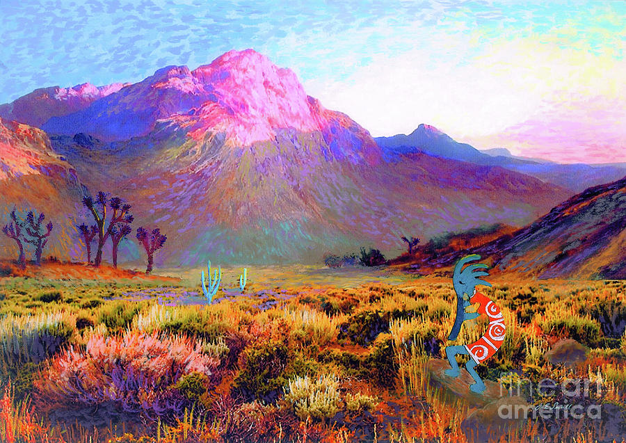 Kokopelli Dawn Painting