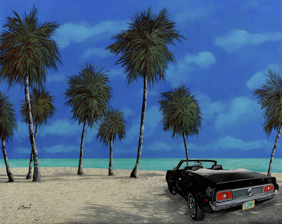 Kools Car By The Beach Painting