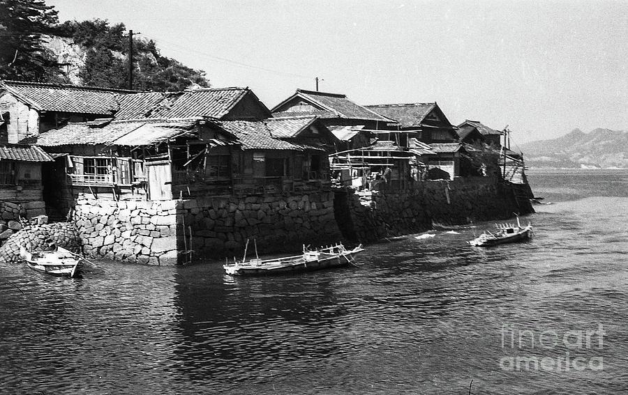 Korea During Korean War - Coastal Village Photograph