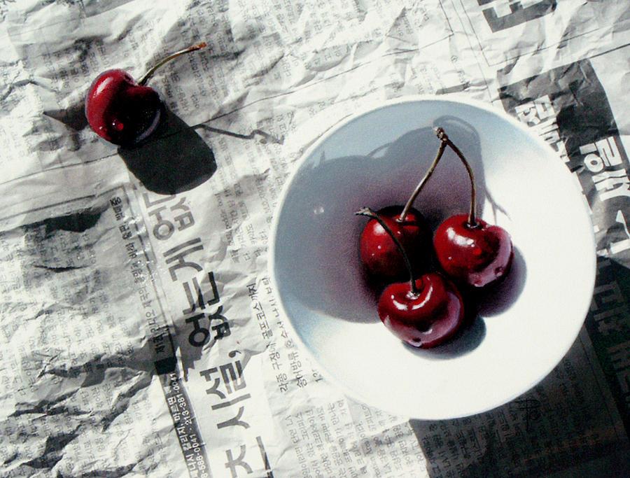 Cherries Painting - Korean Cherries by Dianna Ponting