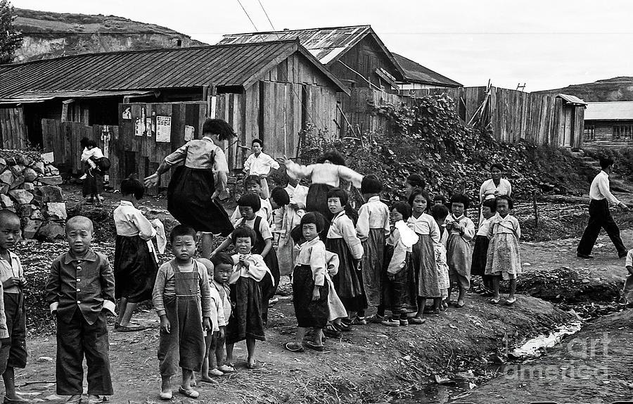Korean War - Children At Play - 2 Photograph