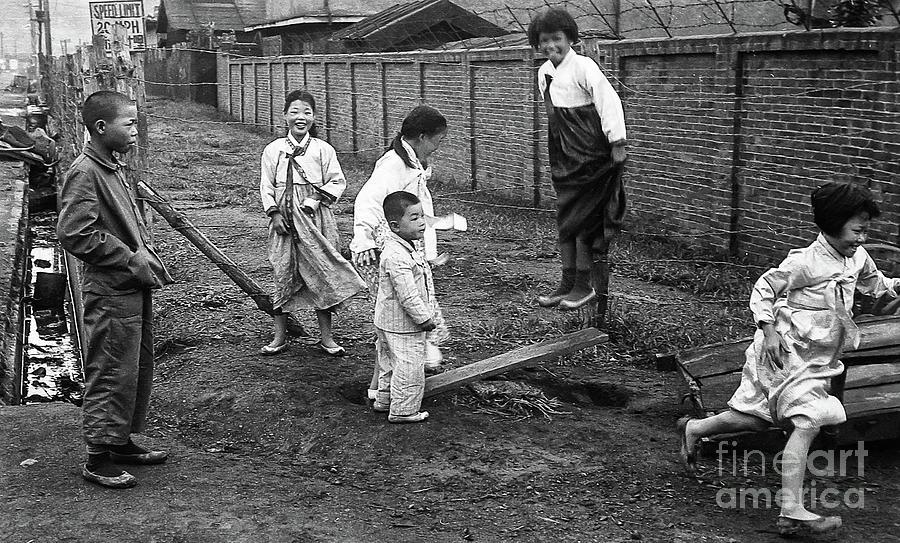 Korean War - Children At Play - Image 3 Photograph