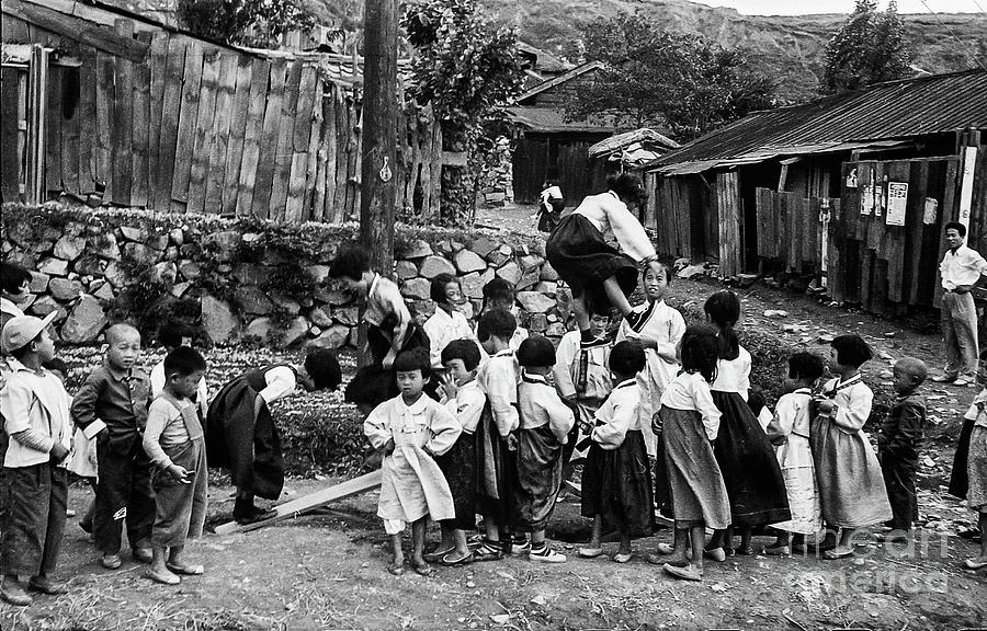 Korean War - Children At Play Photograph