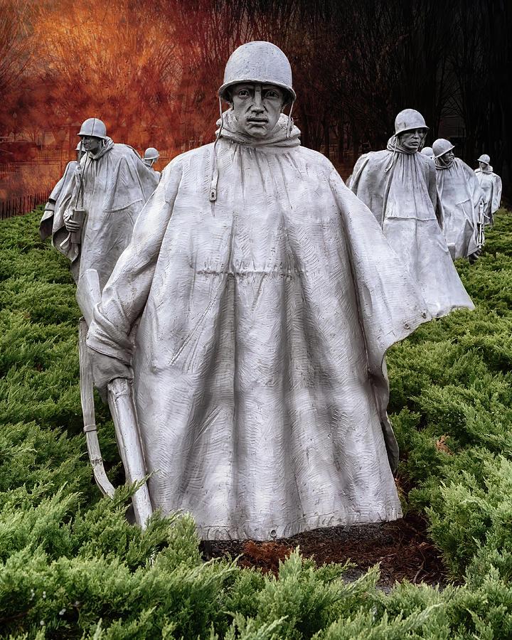 Korean War Memorial Washington Dc Photograph By Susan Rissi Tregoning