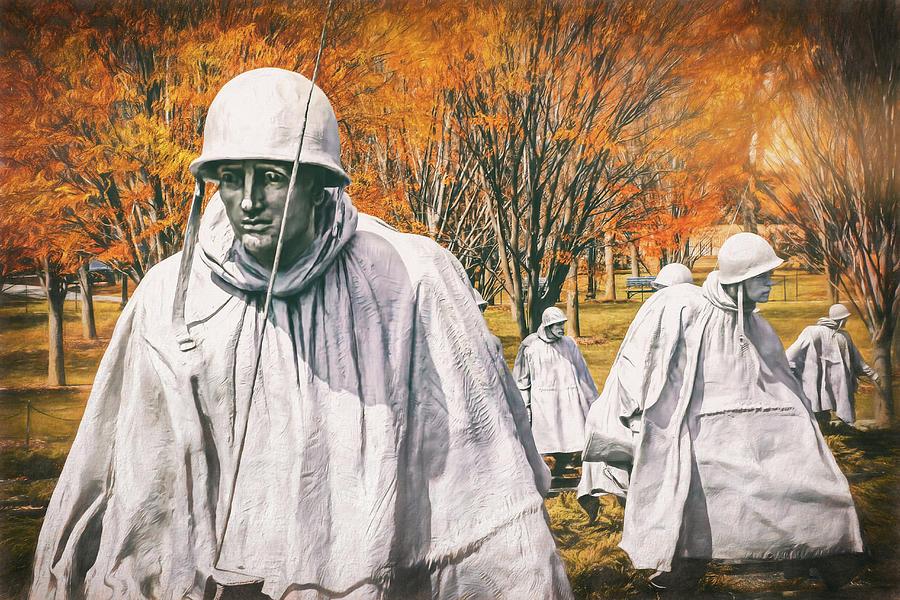 Poster Korean War Memorial Washington Wall Art Home Decor Art//Canvas Print