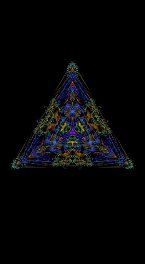 Kosmic Kreation Interstellar Pyramid Digital Art