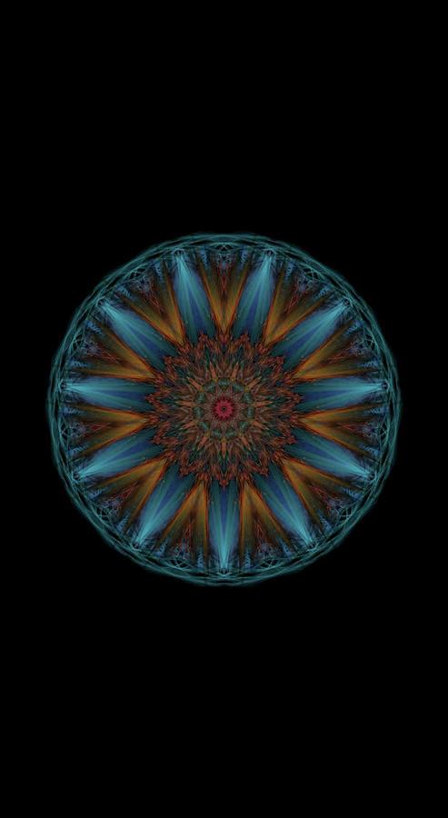 Kosmic Kreation Mandala 2 Digital Art by Michael Canteen