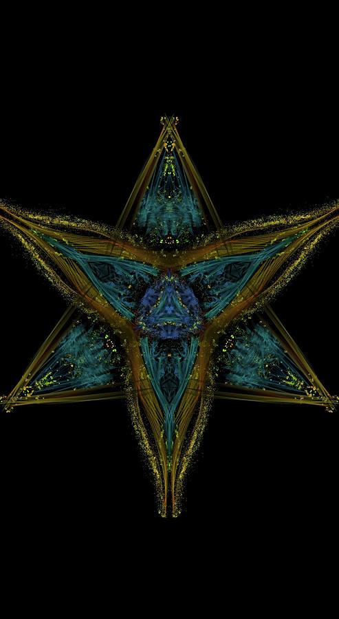 Kosmic Kreation Star Mandala Digital Art