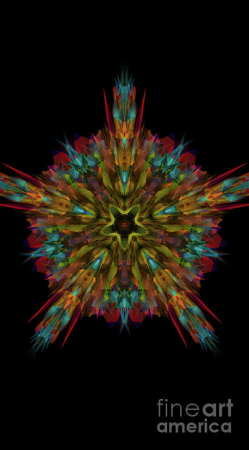 Kosmic Star Mandala Digital Art