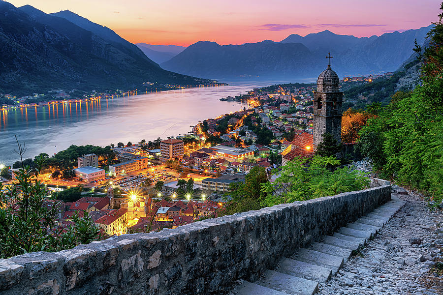 Sunset Photograph - Kotor by Andrei Dima