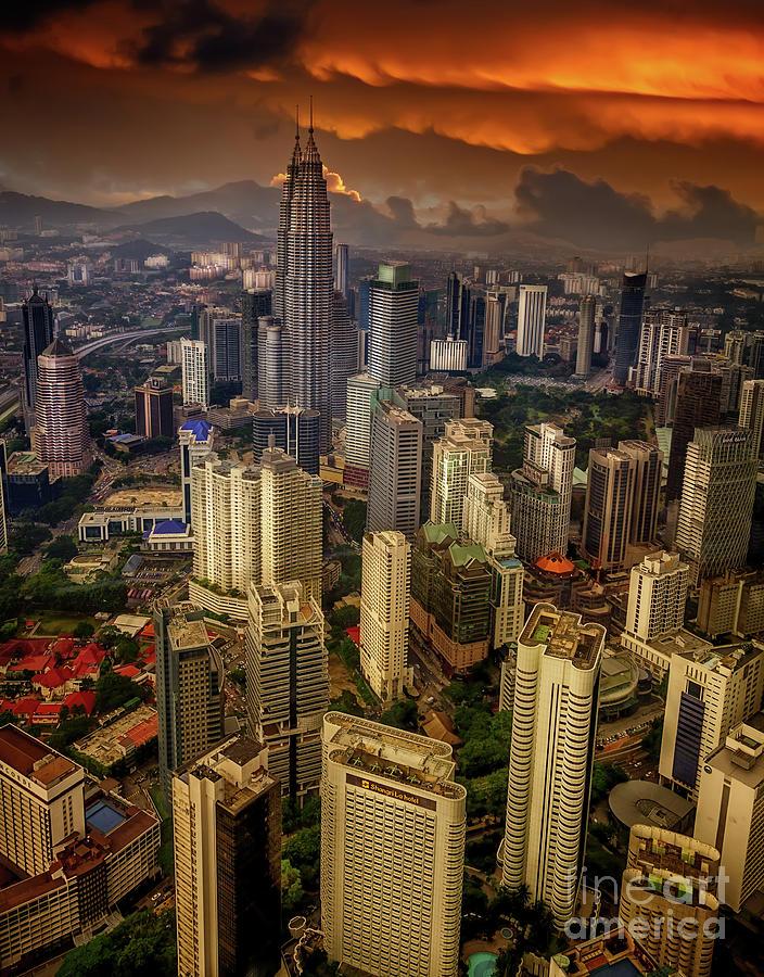 Kuala Lumpur Photograph - Kuala Lumpur City Sunset by Adrian Evans