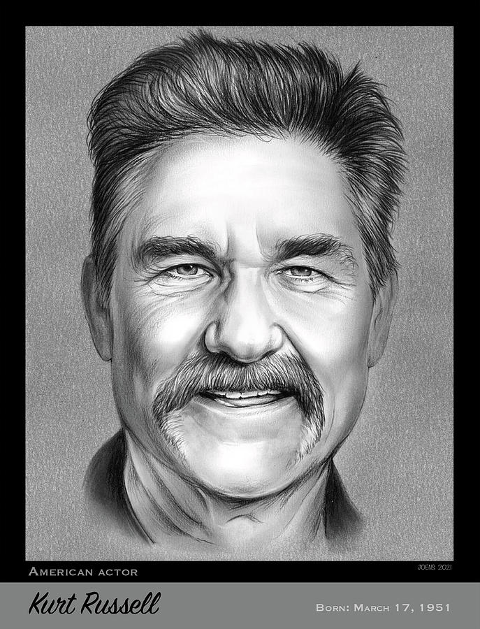Kurt Russell Drawing - Kurt Russell - pencil by Greg Joens