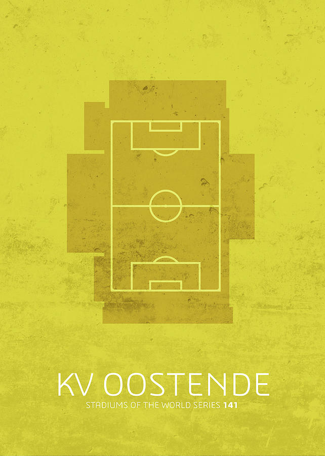 Kv Mixed Media - Kv Oostende Stadium Football Soccer Series by Design Turnpike
