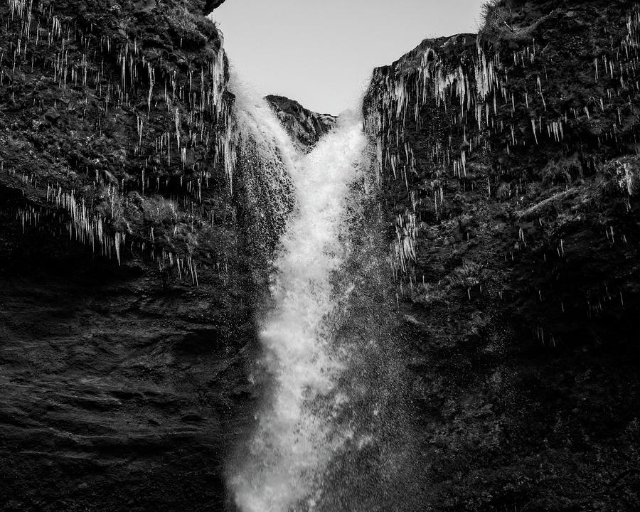 Kvernufoss in Black and White 2 by Catherine Reading