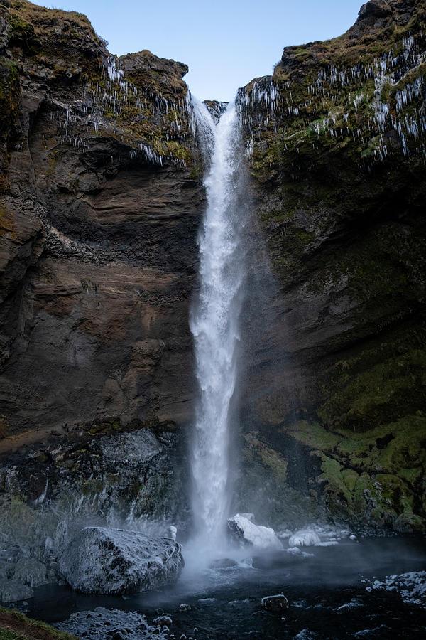 Kvernufoss Waterfall 2 by Catherine Reading
