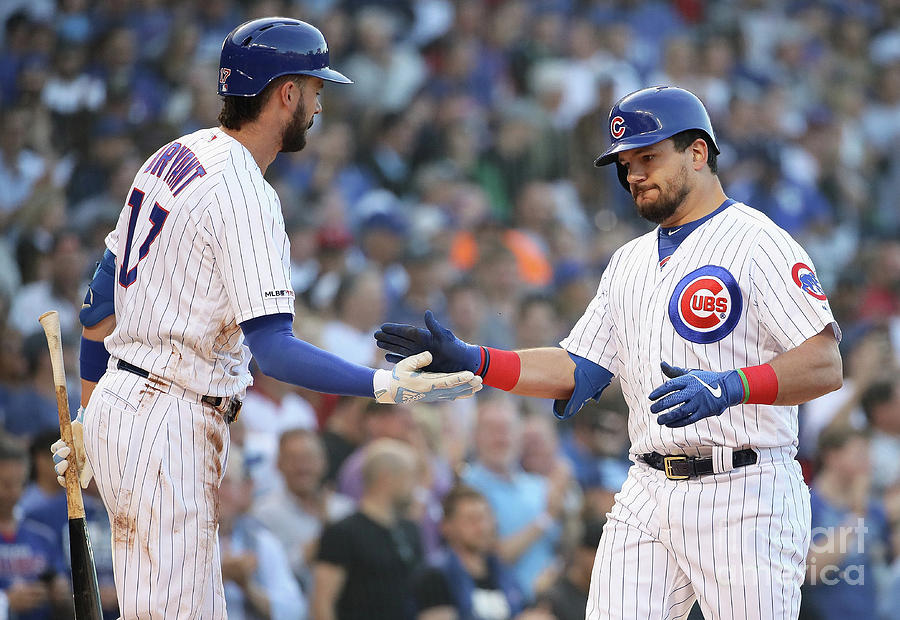 Kyle Schwarber And Kris Bryant Photograph by Jonathan Daniel
