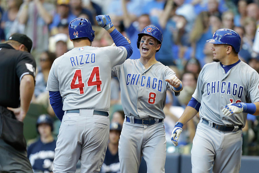 Kyle Schwarber, Anthony Rizzo, And Chris Coghlan Photograph by Mike Mcginnis