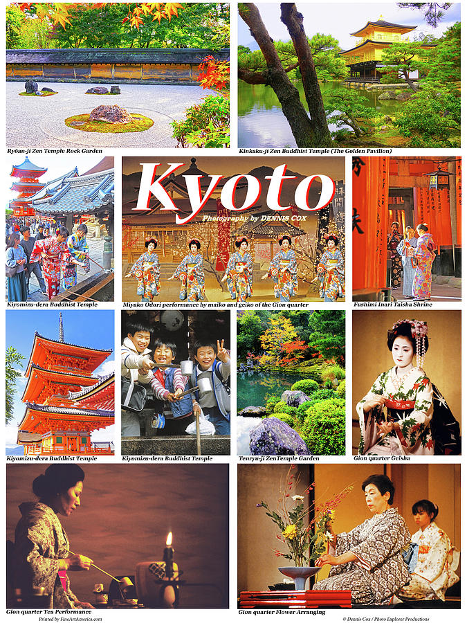 Kyoto Travel Poster Photograph