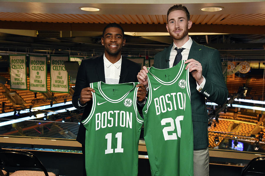 Kyrie Irving and Gordon Hayward Photograph by Brian Babineau