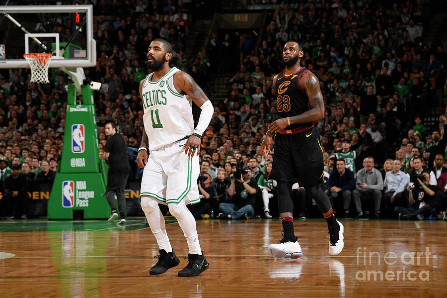 Kyrie Irving and Lebron James Photograph by Brian Babineau
