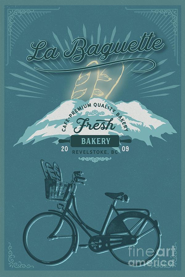 La Baguette Vintage Cafe Poster by Sassan Filsoof