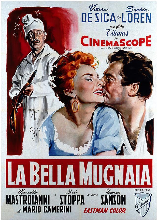 la Bella Mugnaia, With Sophia Loren, 1955 Mixed Media