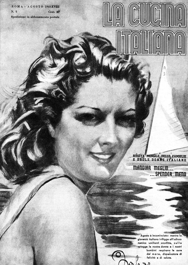 La Cucina Italiana - August 1940 Drawing by Artist Unknown