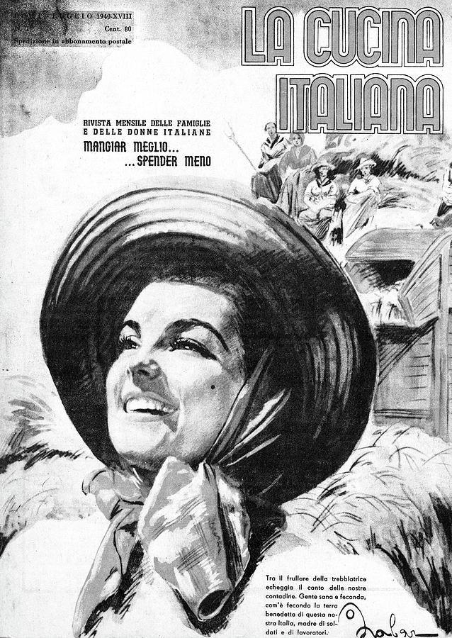 La Cucina Italiana - July 1940 Drawing by Artist Unknown