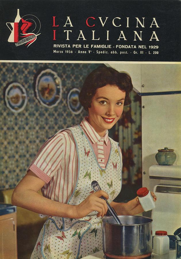 La Cucina Italiana - March 1956 Photograph by Artist Unknown