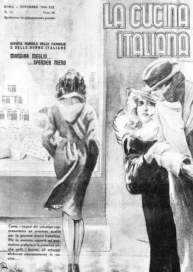 La Cucina Italiana - November 1940 Drawing by Artist Unknown