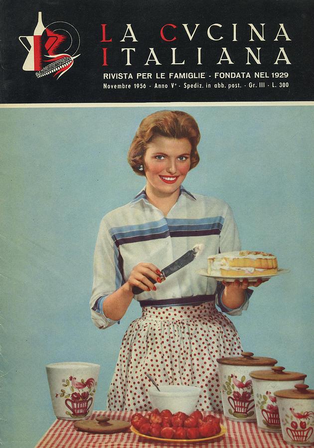 La Cucina Italiana - November 1956 Photograph by Artist Unknown