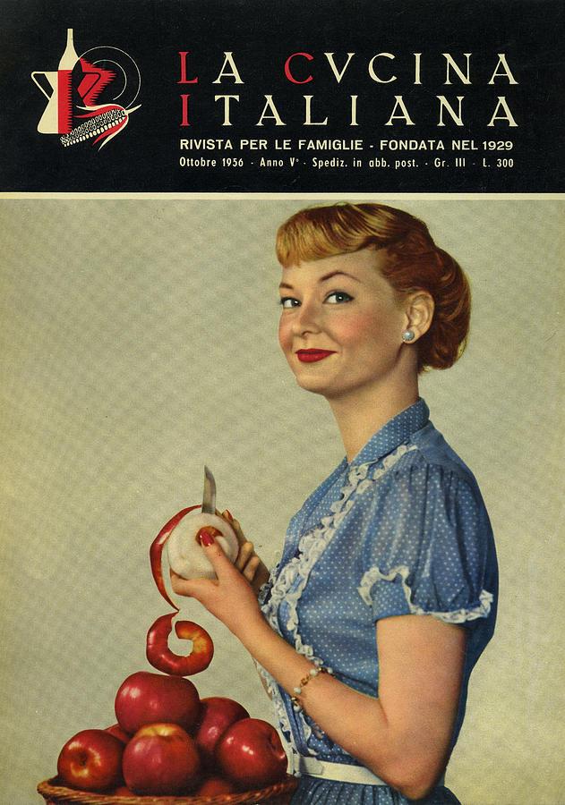 La Cucina Italiana - October 1956 Photograph by Artist Unknown