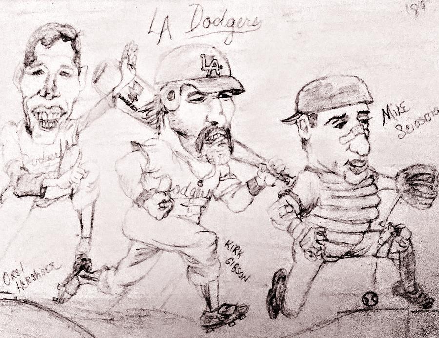 L.a. Dodgers 1989 Drawing
