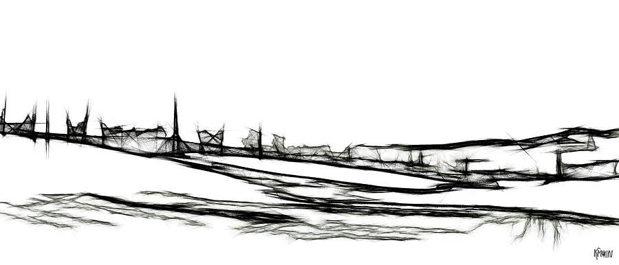 Digital Digital Art - La lagune by The KMoon